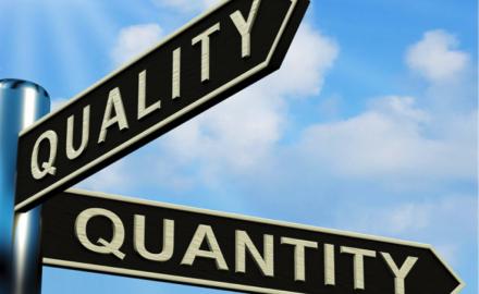 calidad y cantidad