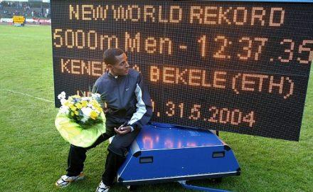 kenenisa bekele récord del mundo en 5000 metros
