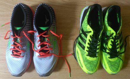 2 pares de zapatillas para correr