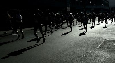 corredores de un maratón