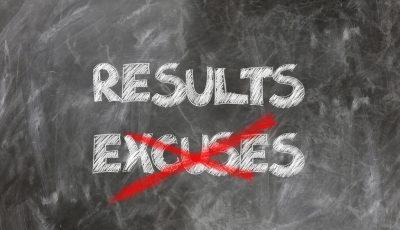 excusas durante una carrera