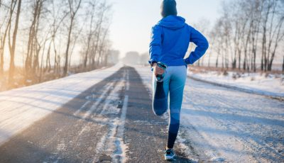 calentamiento antes de correr en invierno