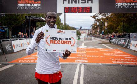 Geoffrey Kamworor récord mundo media maratón