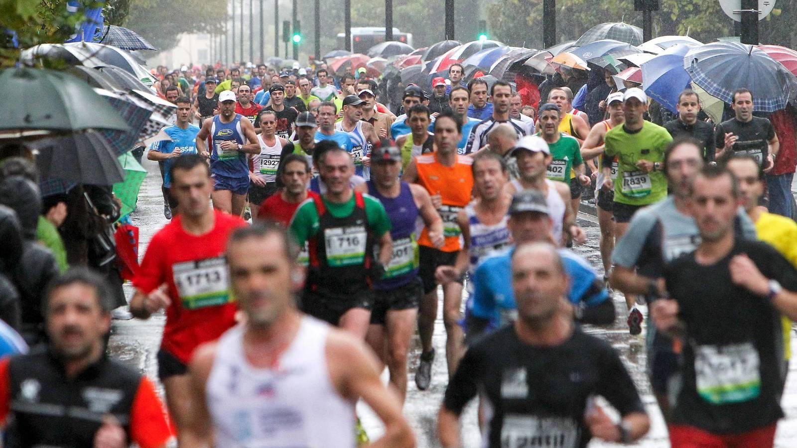 correr con granizo behobia 2019