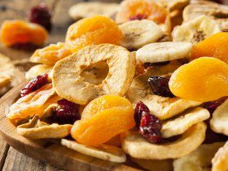 fruta deshidratada beneficios